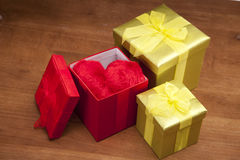 Valentines! Three gifts Royalty Free Stock Image