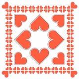 Valentines tiles Stock Photo