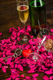 Valentines toast still life Royalty Free Stock Photography