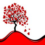 Valentines tree background Royalty Free Stock Photo