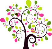 Valentines tree background Royalty Free Stock Photos