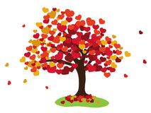 Valentines tree background Stock Photos