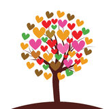 Valentines tree background,  illustration Stock Images