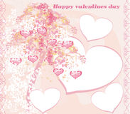 Valentines tree background Stock Image