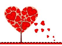 Valentines tree background, vector Stock Photography