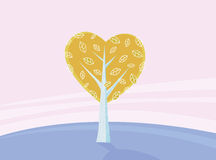 Valentines tree of love Stock Photos