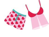Valentines Underwear Stock Photo