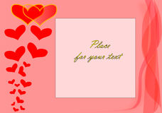 A valentines vector background Stock Photo