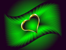 A valentines vector illustration with a gold heart Royalty Free Stock Photo