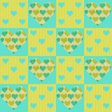 Valentines vector patchwork seamless pattern Royalty Free Stock Photo