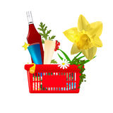 Valentines  vector shopping cart Stock Photo