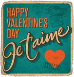VALENTINES vintage hand lettered card (vector) Stock Photo
