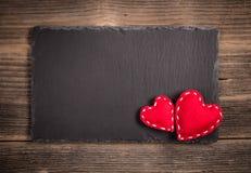 Valentines vintage handmade hearts Stock Image