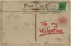 Valentines vintage postcard. Royalty Free Stock Photography