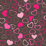 Valentines wallpaper. Vector of romantic Valentine hearts background Royalty Free Stock Photo