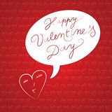Valentines wallpaper with cute tiny hearts. Stock Photos