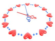Valentines watch. 3D valentines watch (more in portfolio Royalty Free Stock Photography