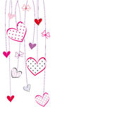 Valentines or wedding card Royalty Free Stock Photos