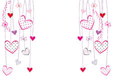 Valentines or wedding card Stock Images