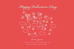 Valentines, wedding greeting card. Stock Photos