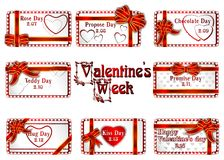 The Valentines week. Royalty Free Stock Images