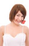 Valentines woman Stock Image