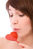 Valentines woman Stock Photo