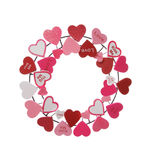Valentines Wreath Royalty Free Stock Images