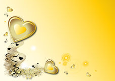 Valentines yellow background Royalty Free Stock Photo