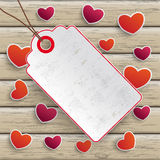 Valentinesday Price Sticker Wood Royalty Free Stock Photo