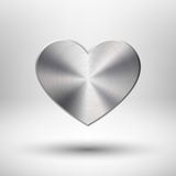 Valentiness Day Heart with Metal Texture Stock Photos