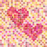 Valentiness hearts. Patchwork background for valentine's day royalty free illustration