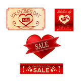 Valentinförsäljningsuppsättning Royaltyfria Foton