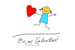 Valentinhälsningkort Arkivbild