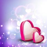 Valentinhälsningskort Fotografering för Bildbyråer