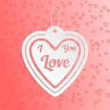 Valentinhjärta älskar jag dig Royaltyfri Bild