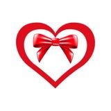 Valentinhjärta och pilbåge Arkivfoton