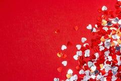 Valentinhjärtabakgrund Royaltyfri Bild