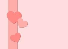 Valentinhjärtor och bandbakgrund vektor illustrationer