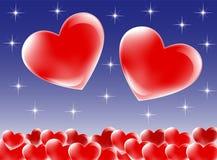Valentinhjärtor Arkivbild