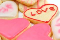 Valentinkakor i forma av hjärta arkivfoton