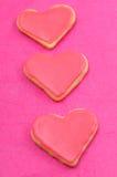 Valentinkakor i forma av hjärta royaltyfria bilder