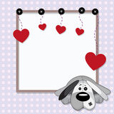 Valentinkort Arkivfoto