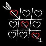 Valentinkort av förälskelse arkivfoton