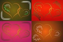 Valentinkort för ferien Arkivfoto