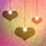 Valentinkort, feriebakgrund Arkivfoto