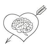 Valentinkort med hjärnan Royaltyfria Foton