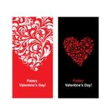 Valentinkort med hjärtaform för din design Arkivfoto
