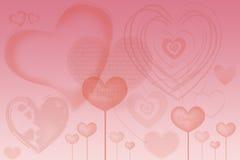 valentinkort med hjärtor Royaltyfri Fotografi