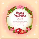 Valentinkortchokladask Royaltyfri Bild